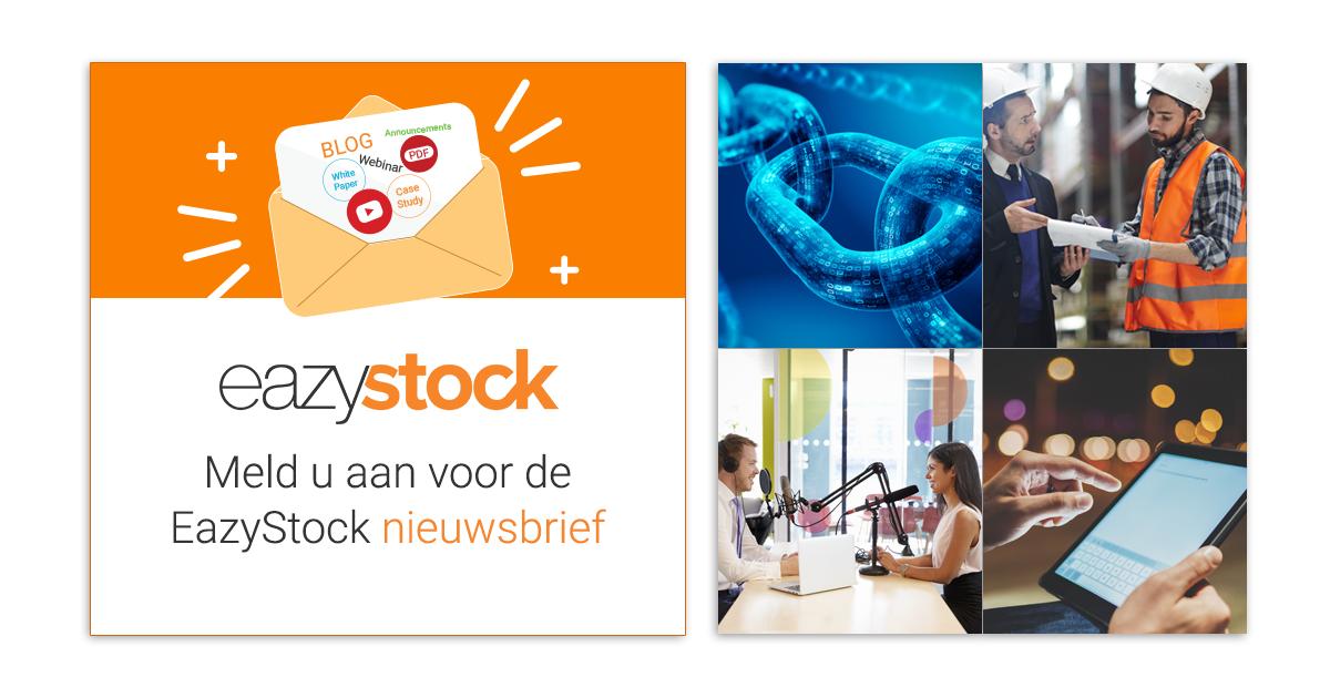 Meld u aan voor de EazyStock nieuwsbrief